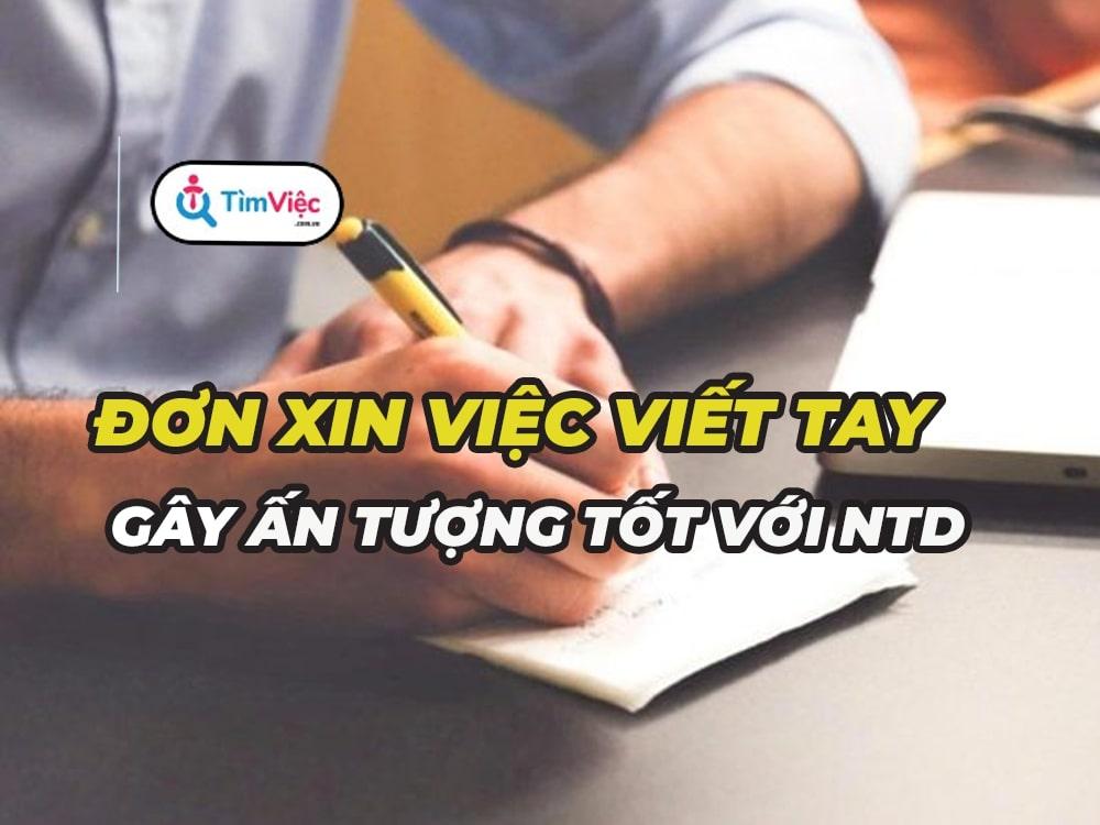 Mẫu đơn xin việc viết tay được nhà tuyển dụng đánh giá cao